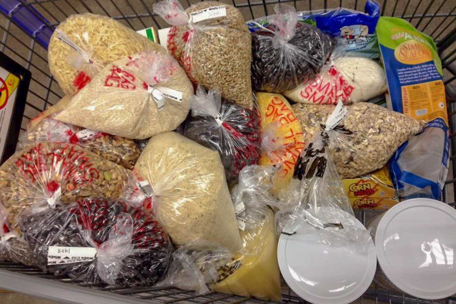buying dried goods in bulk can save money.