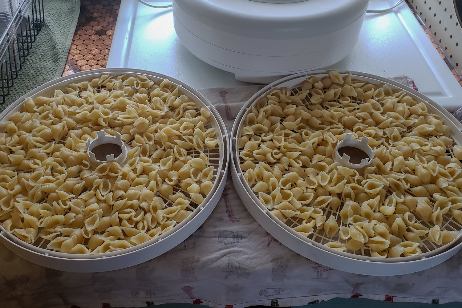 """dehydrating cooked pasta makes it """"instant"""" on the trail."""