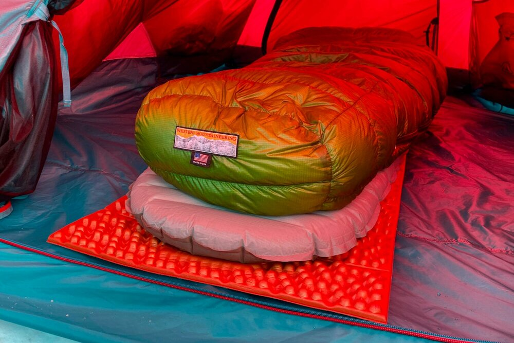 A foam  pad, like the NEMO Switchback, can be used with an air pad to maximize the warmth of your sleep system.