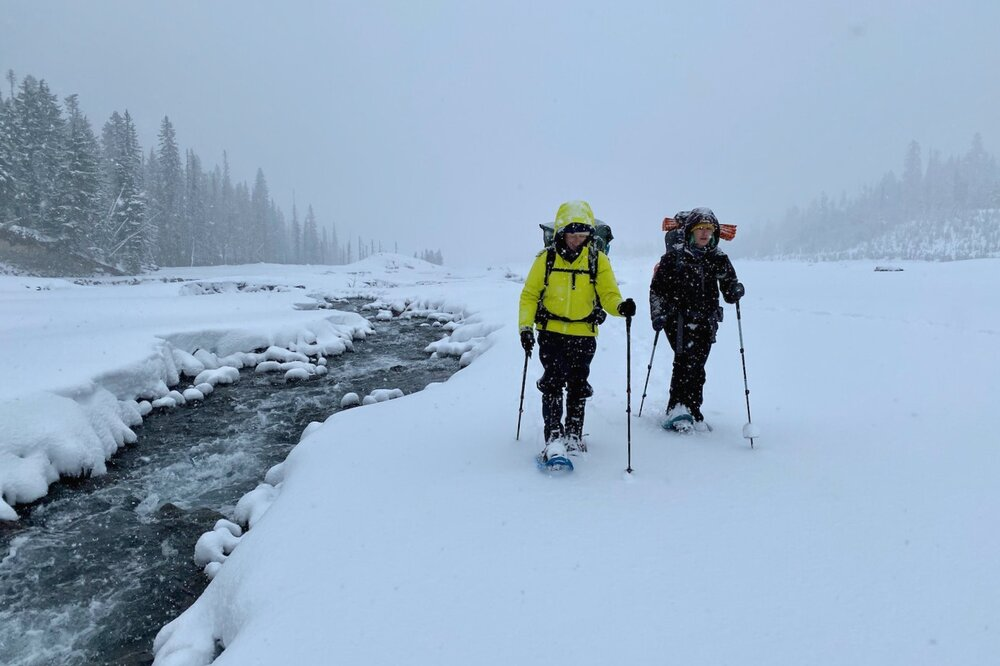 Snowshoeing with a backpack on is a ton of fun, but it saps energy quickly, so keep mileage goals short.