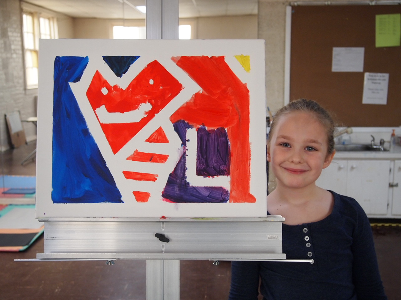Abstract Painting with Meaningful Colors