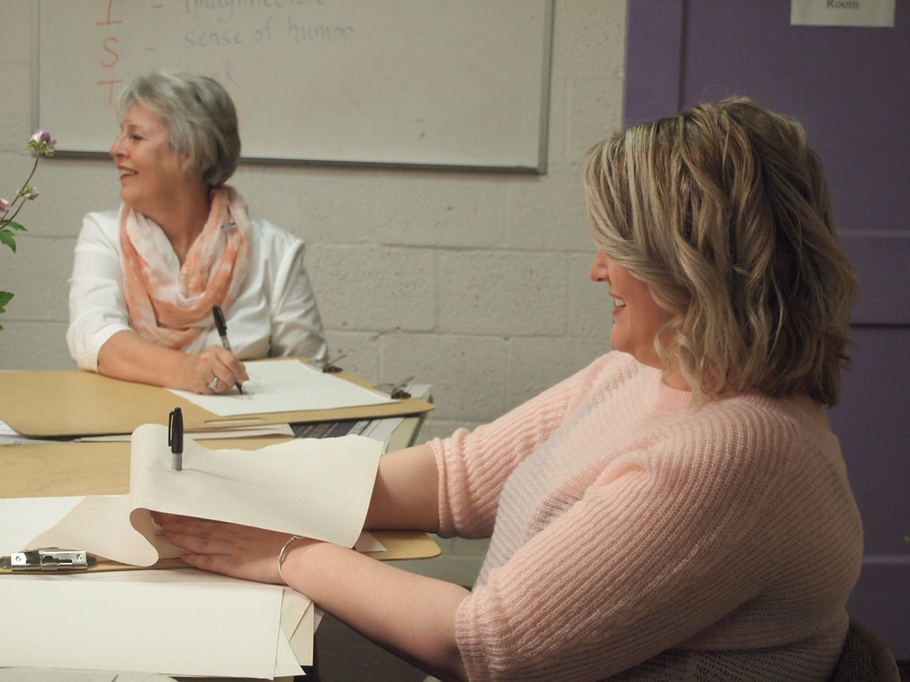 Ladies night out: blind contour drawing