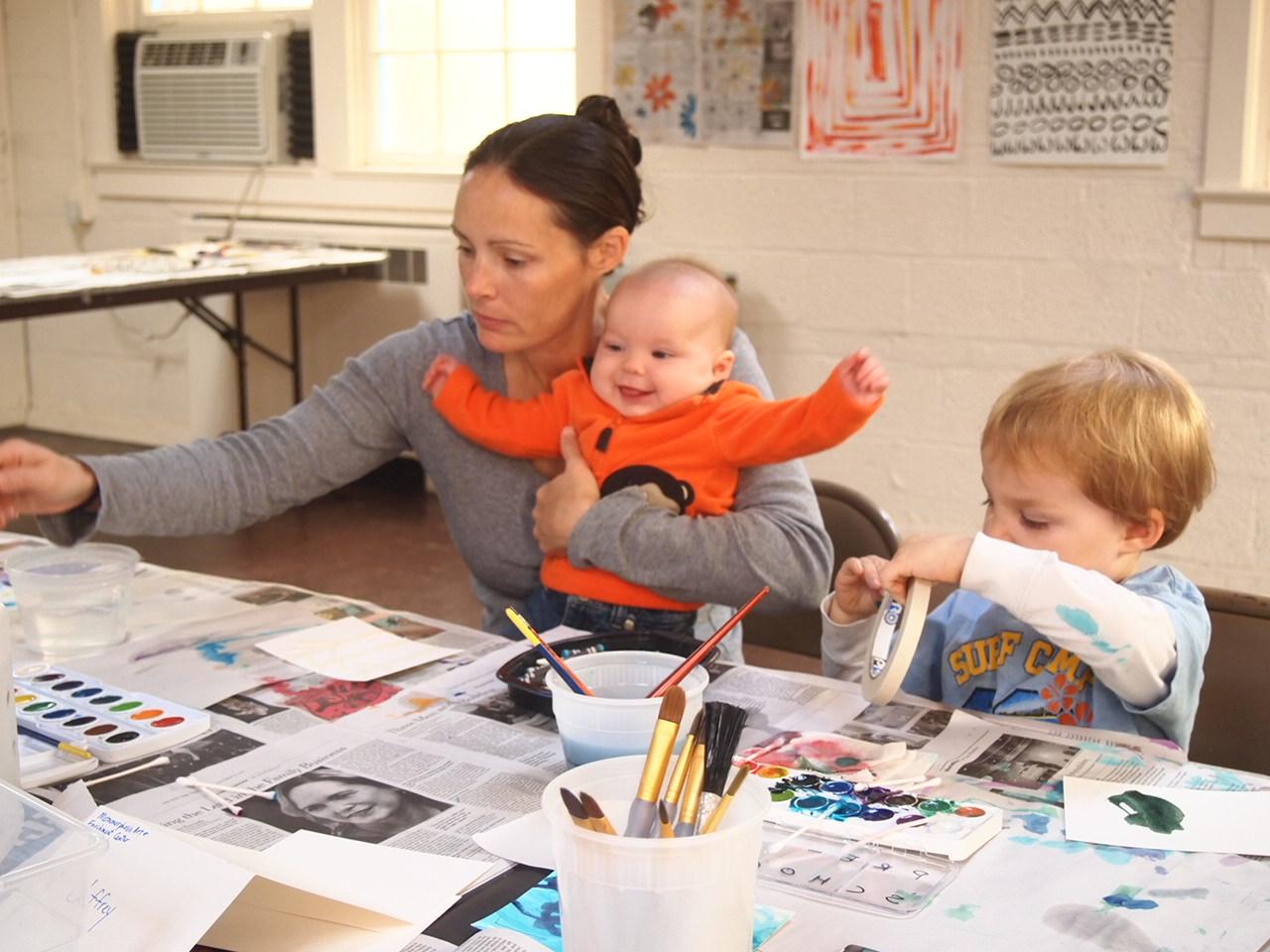 Everyone enjoying their creative time.