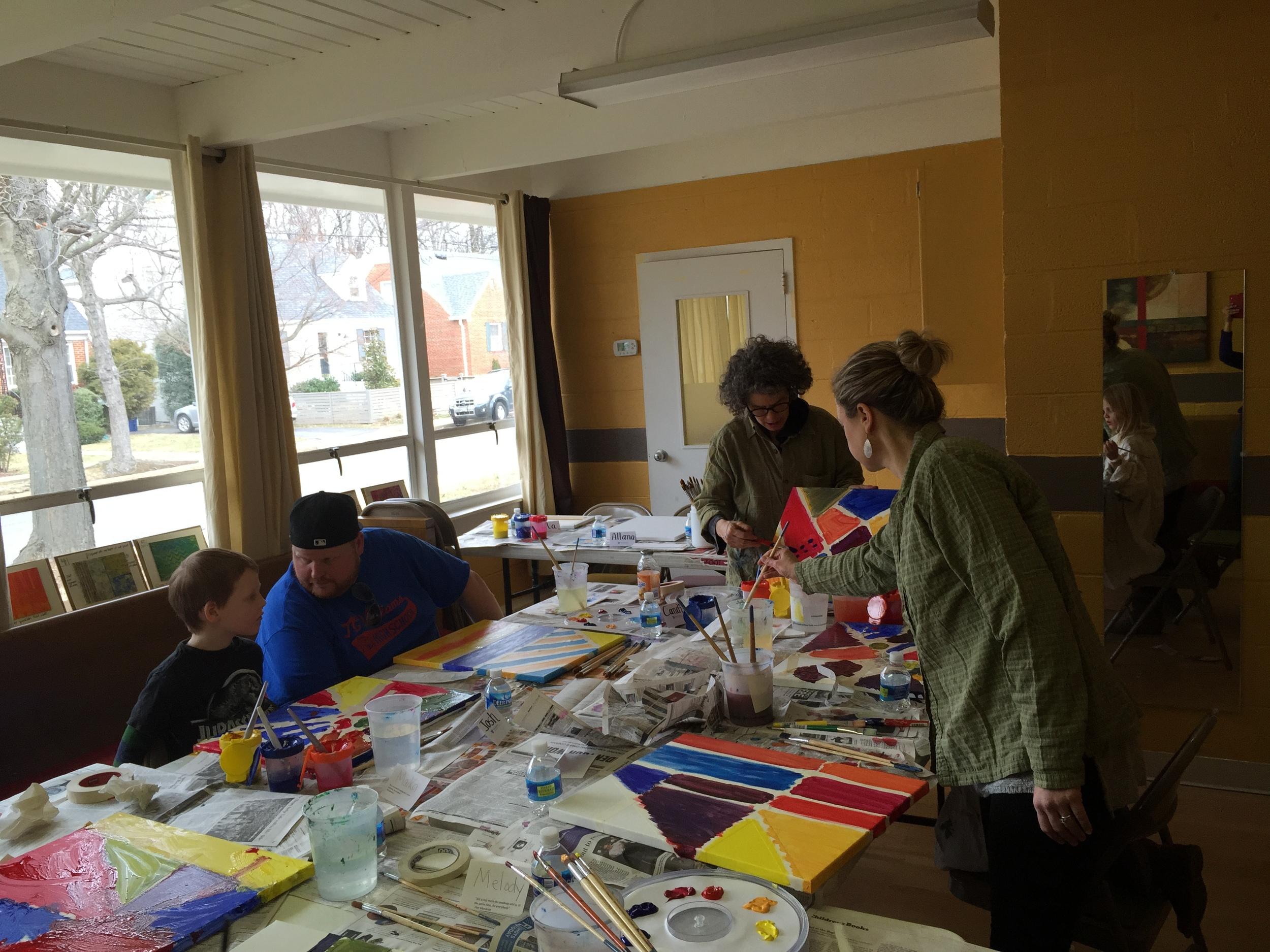 Tape Shape Art Family Art Workshop