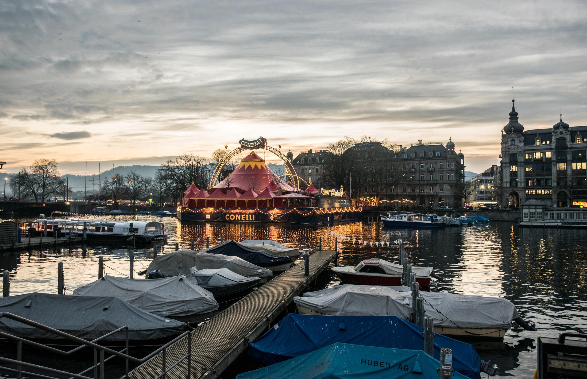 Zurich, Switzerland - New Year's Eve, 2015