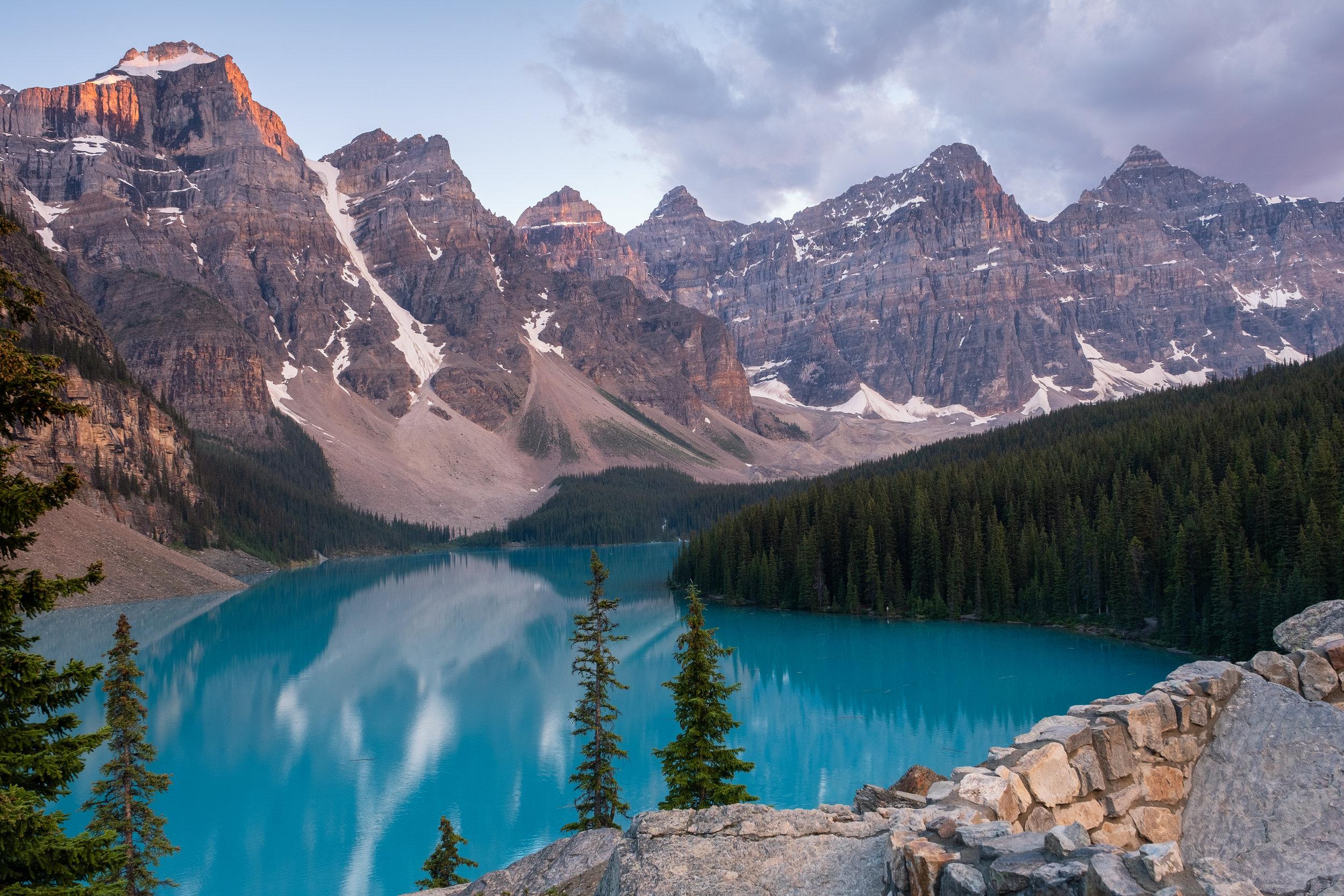 Morraine Lake in Banff National Park - Alberta, Canada. July, 2018.