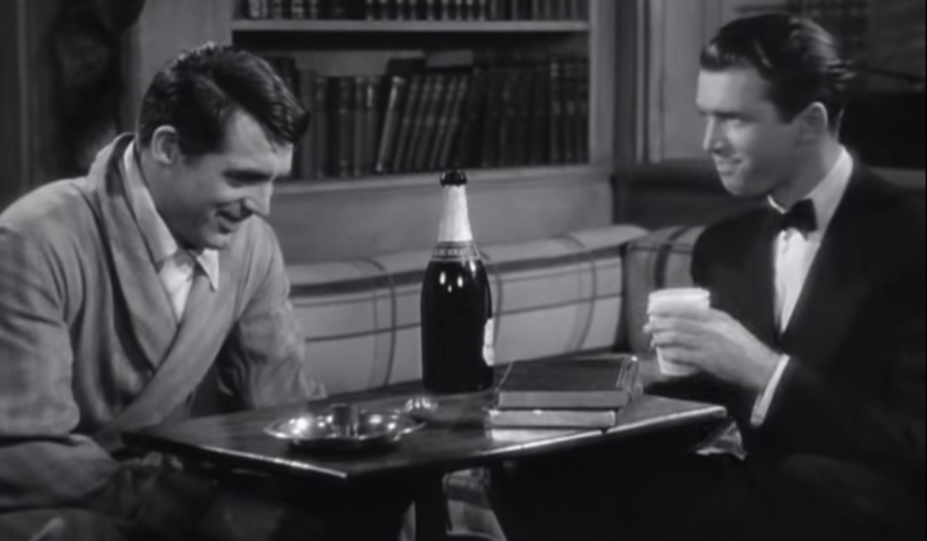 Cary Grant (left) and Jimmy Stewart, The Philadelphia Story, 1940.
