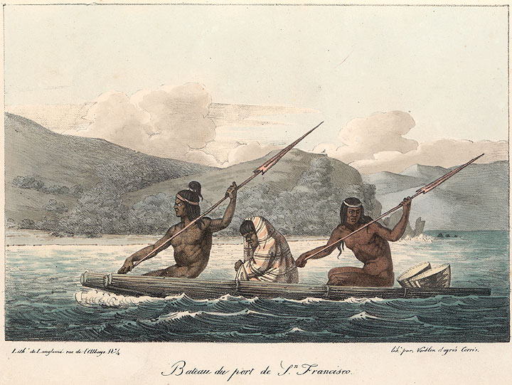 San Francisco Natives, by Louis Choris, 1816