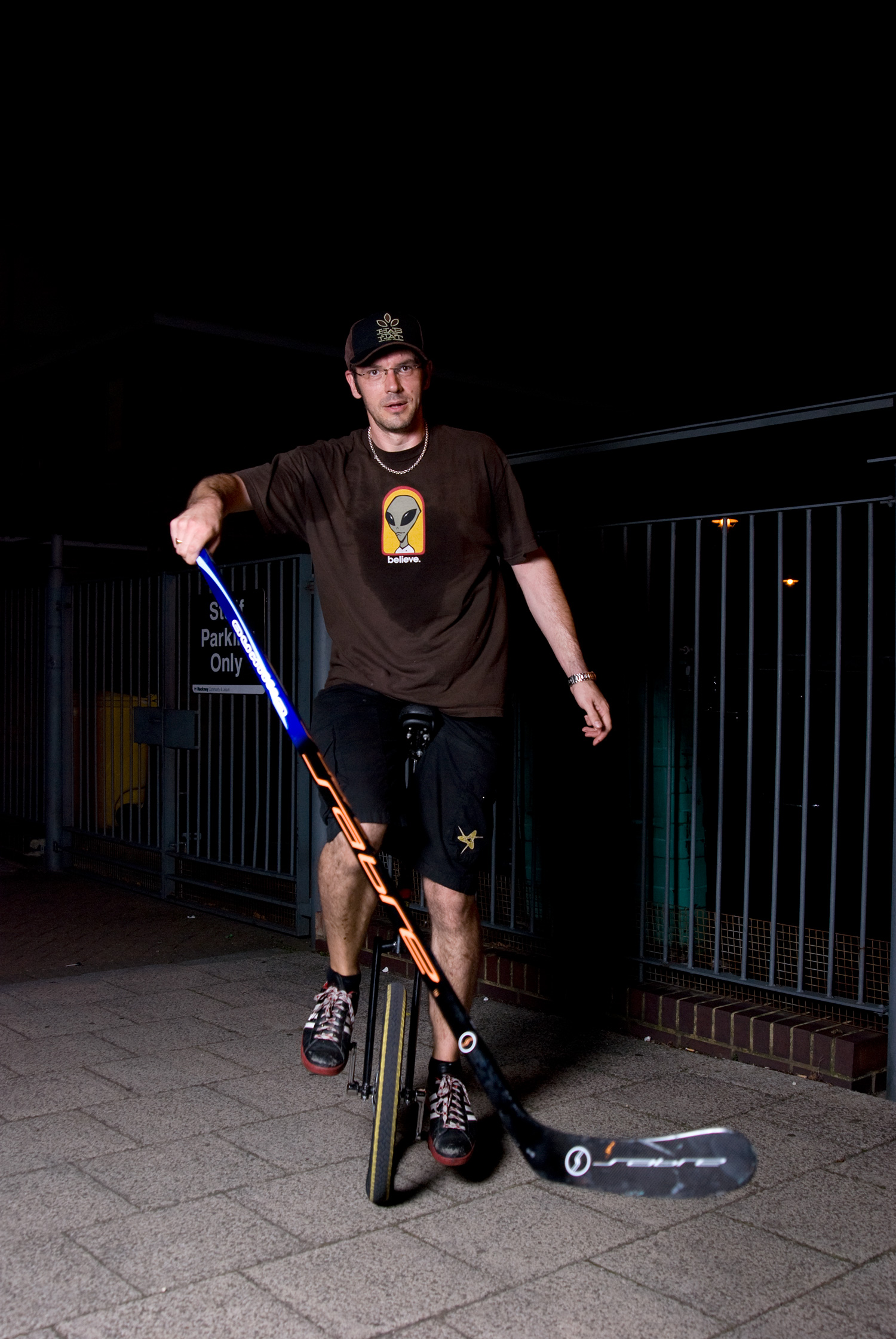 Unicycle Hockey Players of Hackney for the Economist's  More Intelligent Life