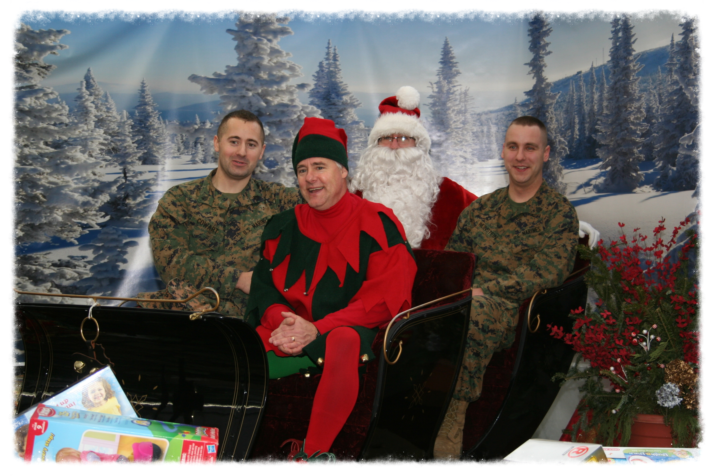 Santa and The Marines!