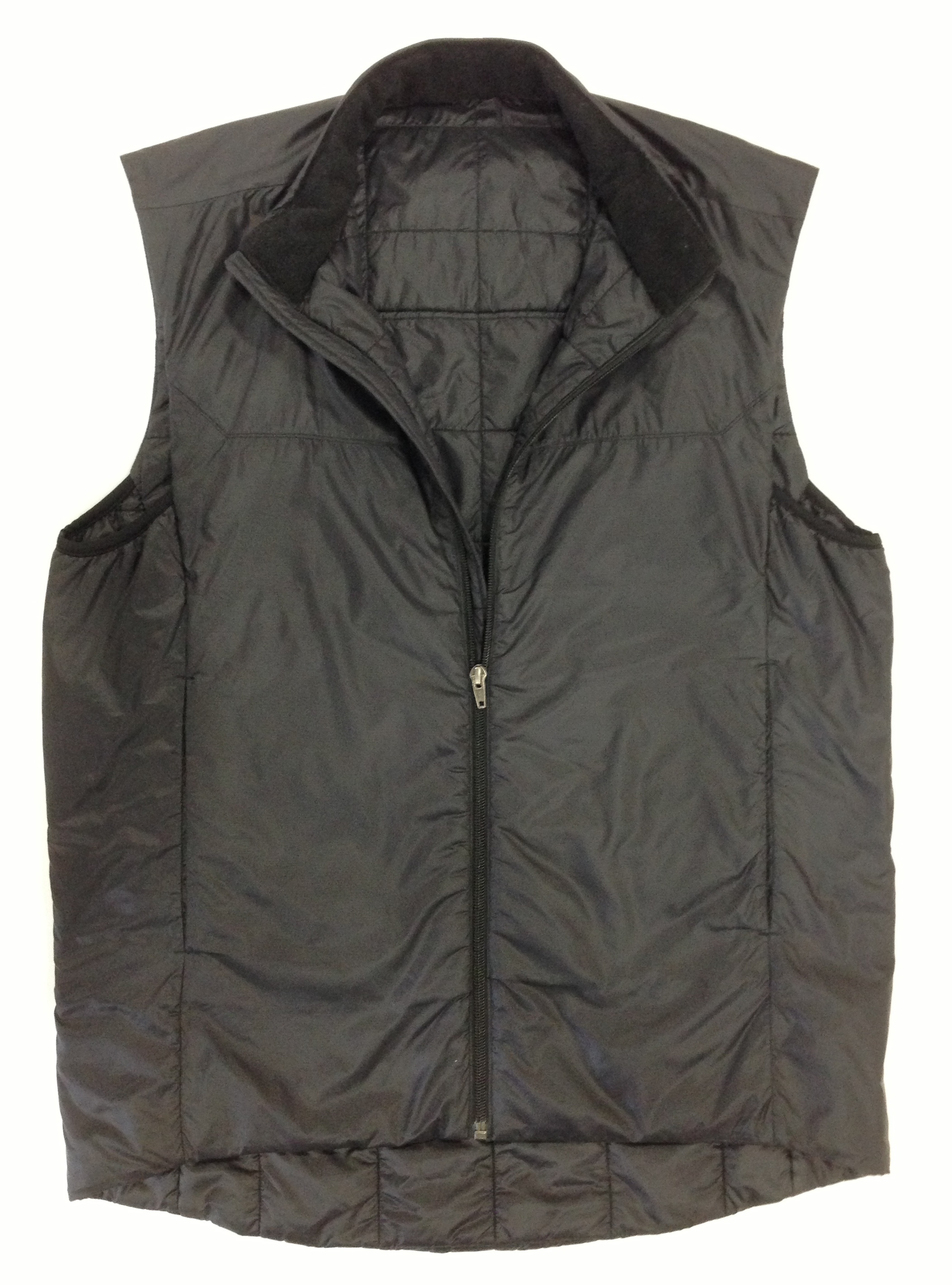 Men's Black Nylon RipStop Vest