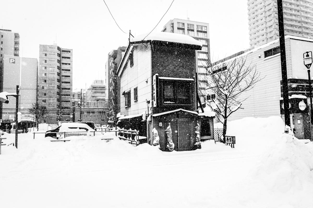 Shushi restaurant in a residential aerea, Sapporo