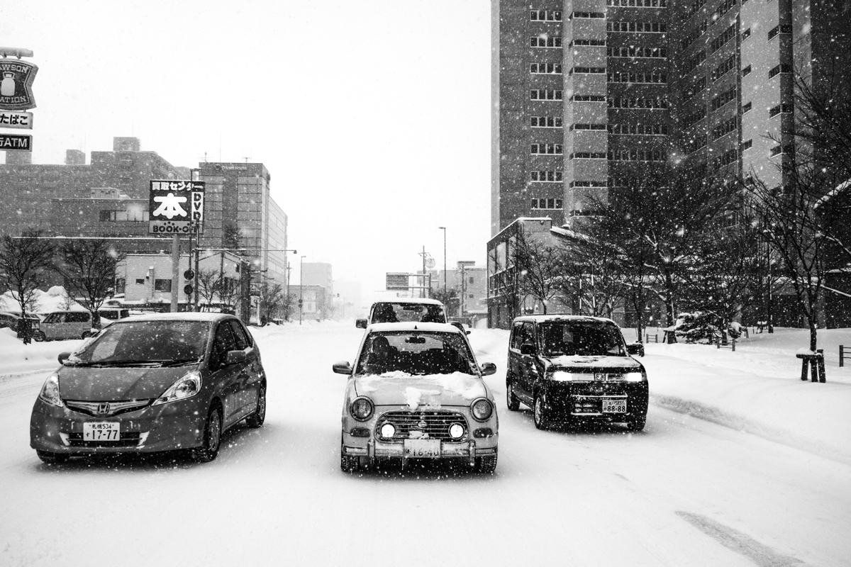 people from Hokkaido are very used to driving in snow and ice condition