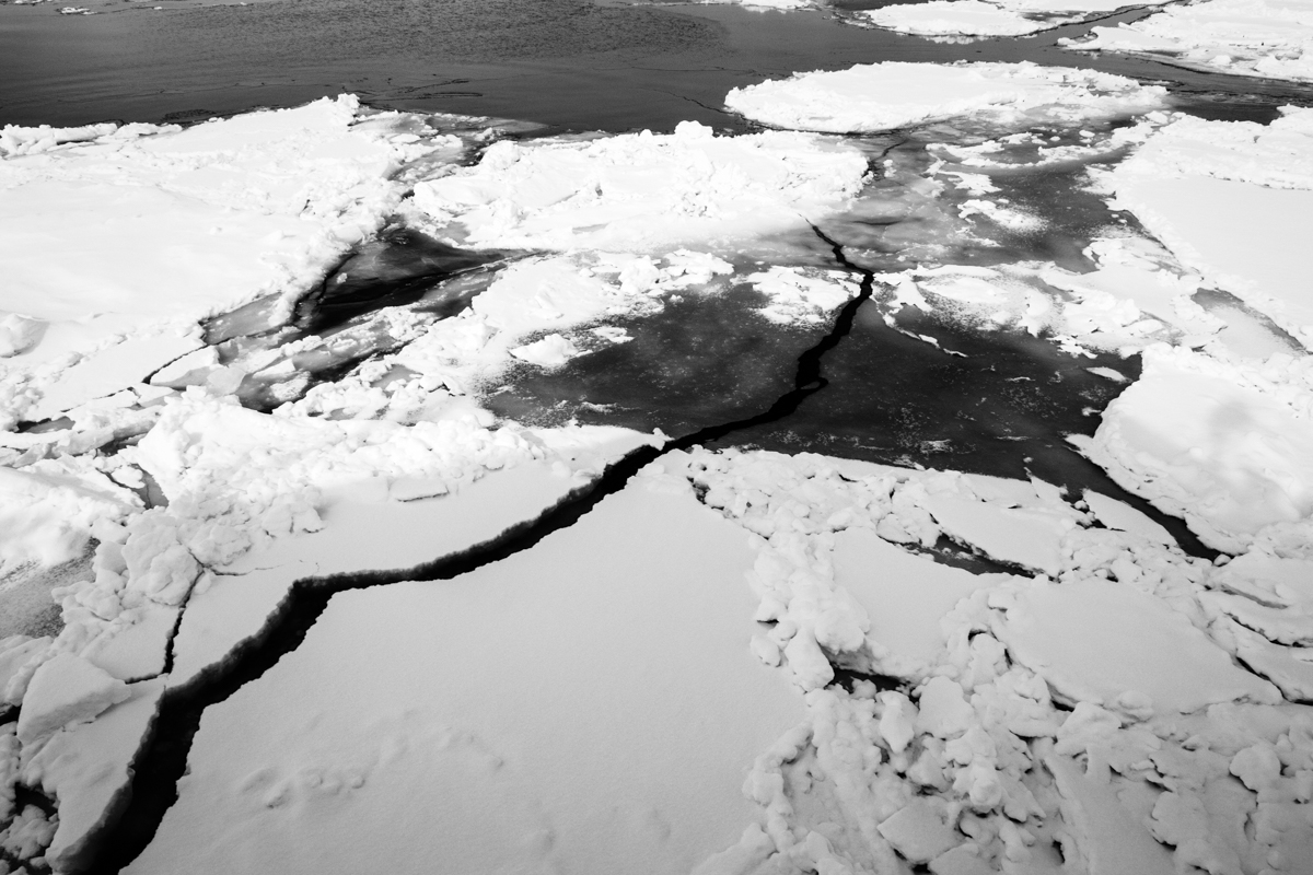 Climate change here is visible as ten years ago the drift ice phenomenon coming from the arctic sea was deeper a longer but today the forecast,  due to the increase of the temperature,  this phenomenon can disappear and will affect all the ecosystem connected with the Drift Ices.