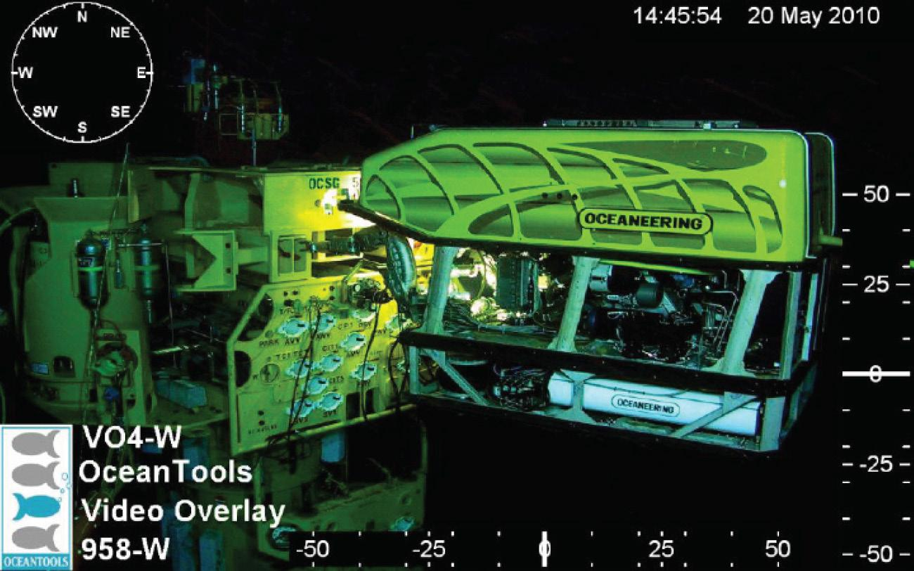 High definition digital video overlay display of ROV operation