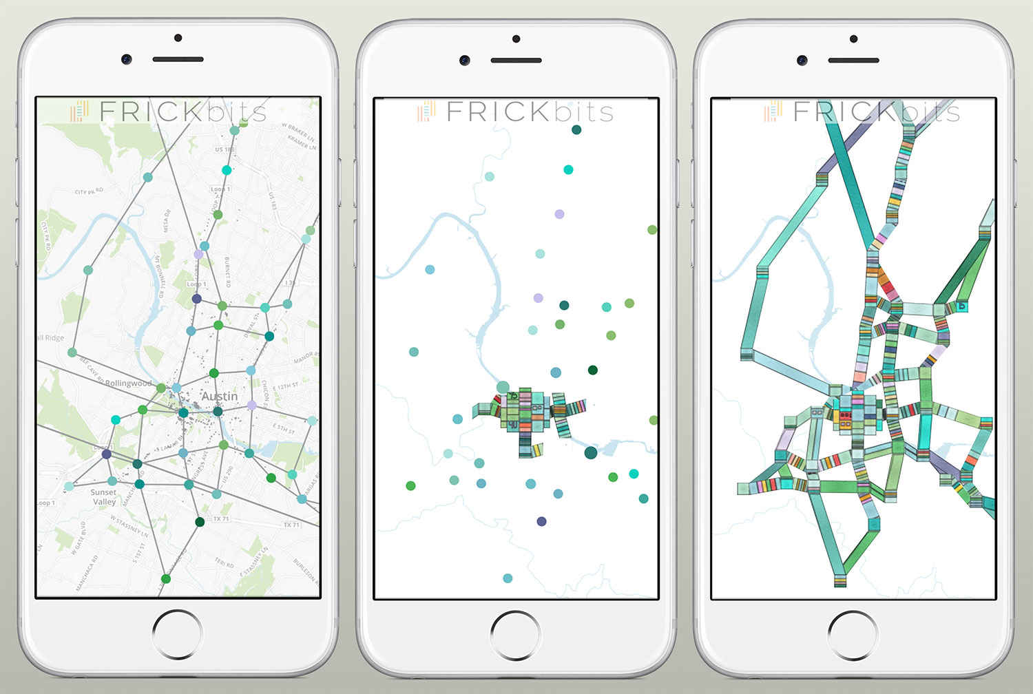FRICKbits, your location builds art. It's your life, it's your data, why not turn it into art?