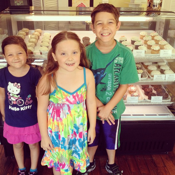 About to pick out their favorite cupcake!