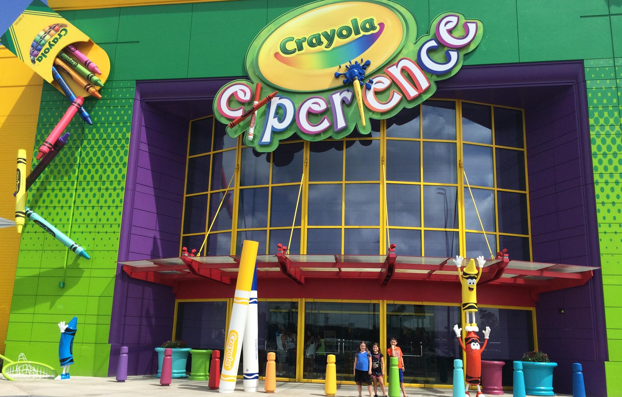 Front Entrance at Crayola Experience Orlando, FL