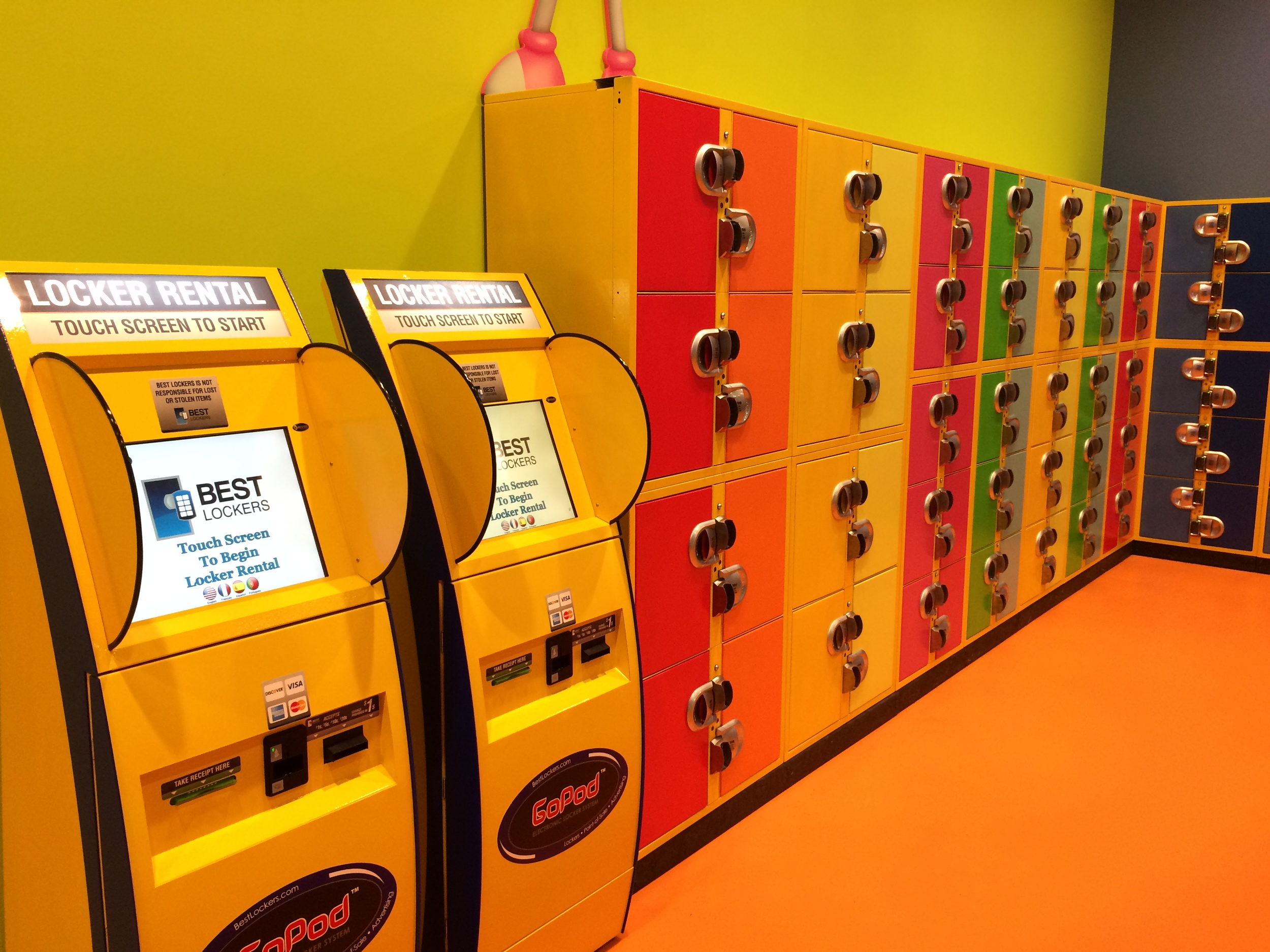 Crayola Experience Orlando, FL  Lockers