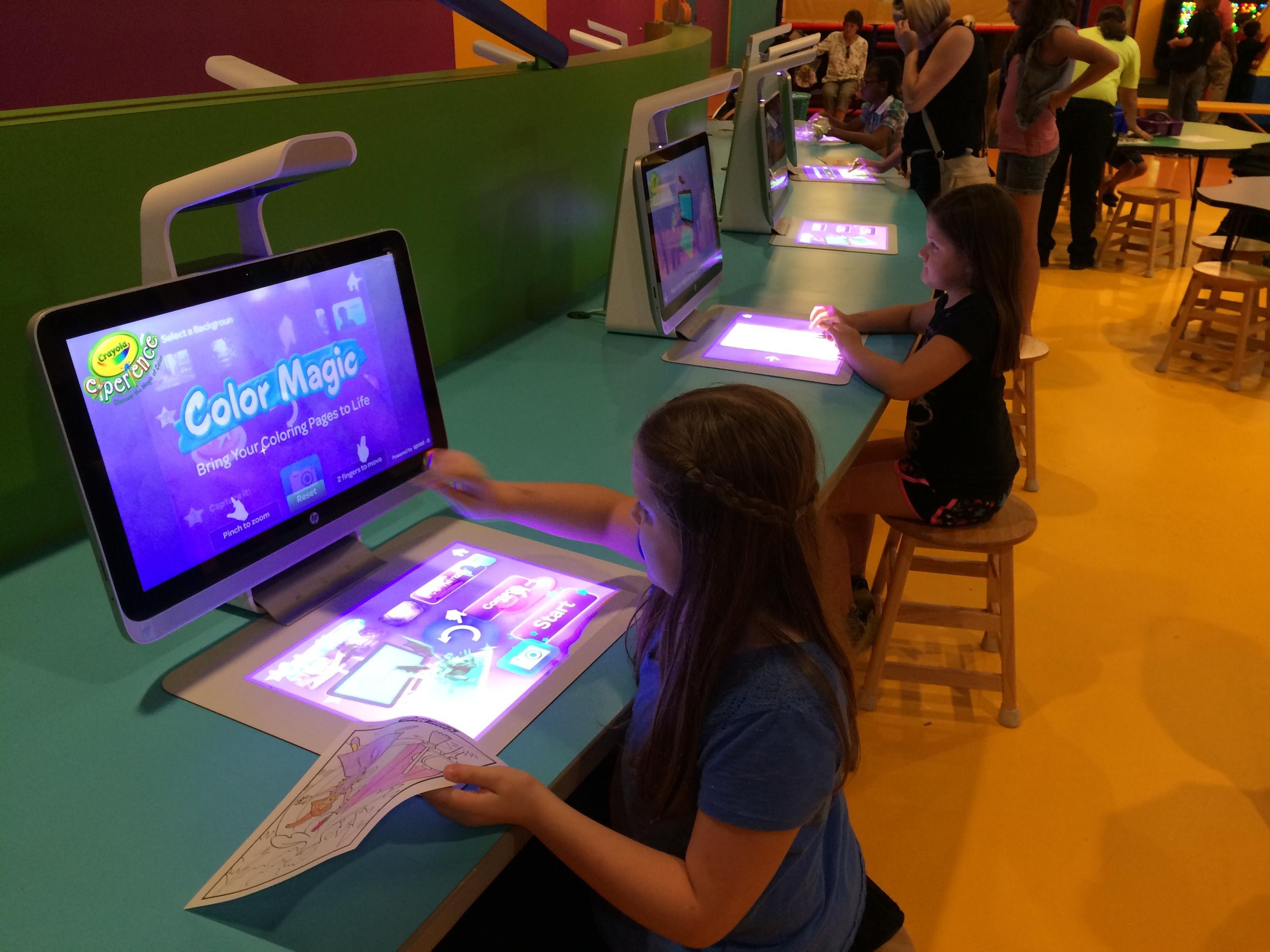 Crayola Experience Orlando, FL COLOR MAGIC Computer Station