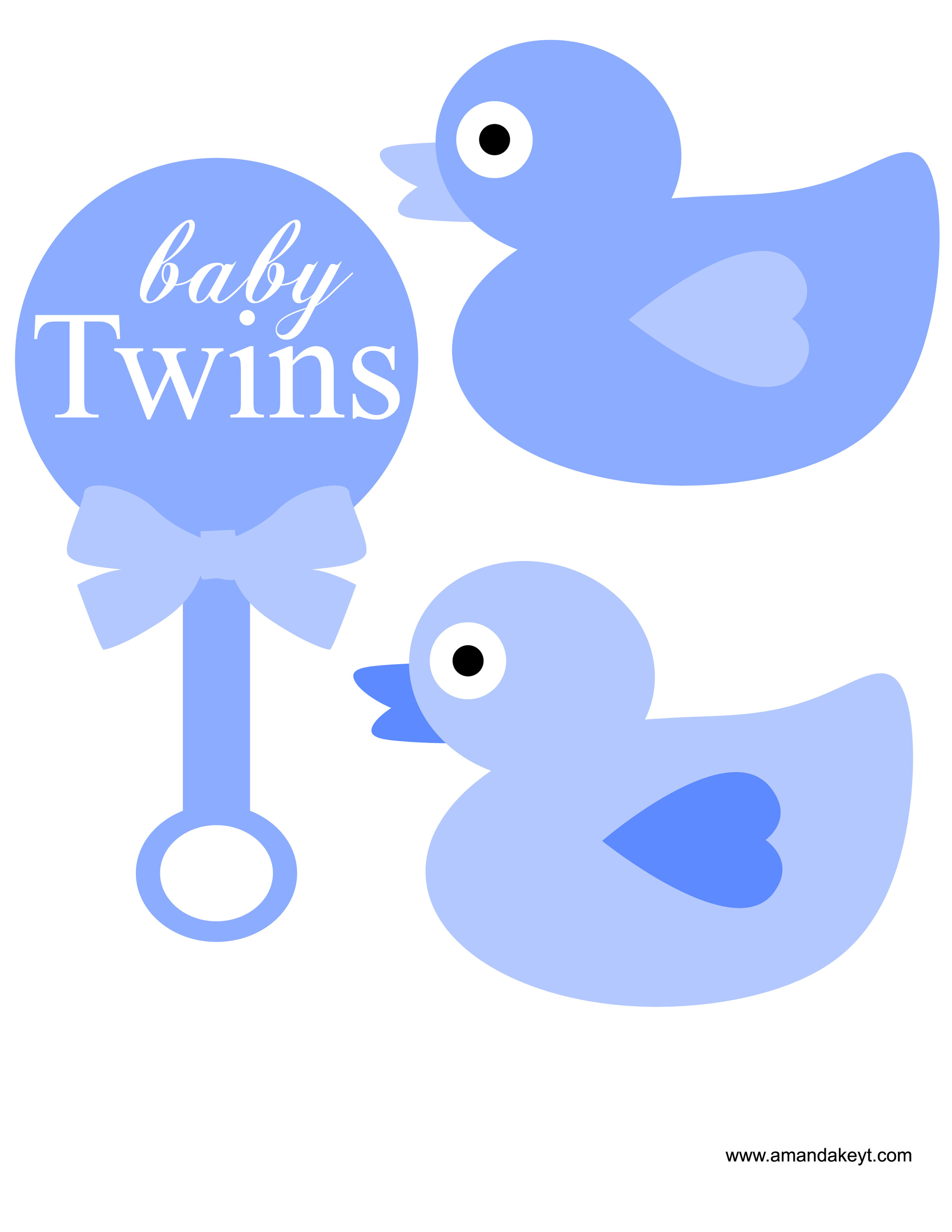 Blue Baby Twins