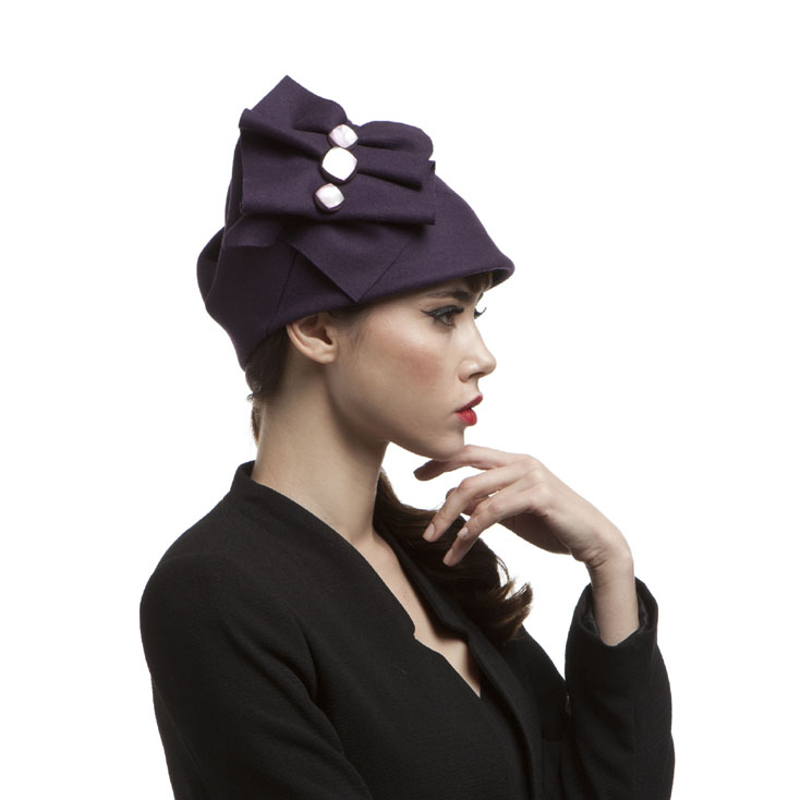 'Madison' tall cloche hat