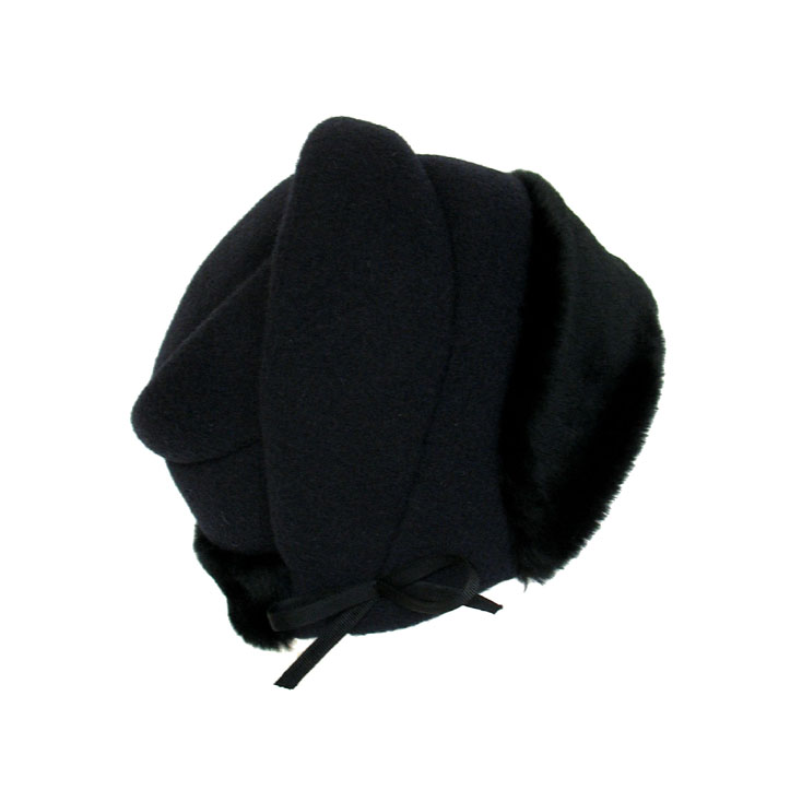 'Lavalle/fur' cloche hat