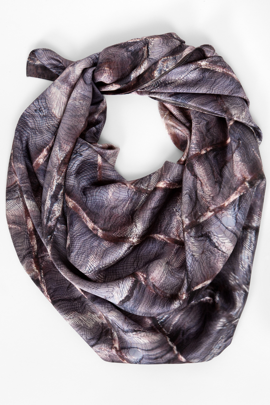 large square scarf in silk satin by  Pinaki Editions  £175