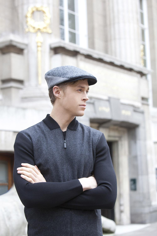 'Stirling' flat cap
