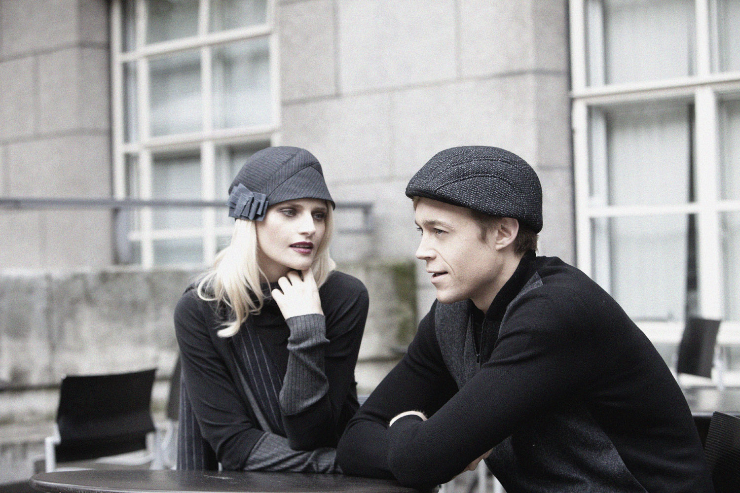 'Peppy' cloche and 'Gower' beret-cap