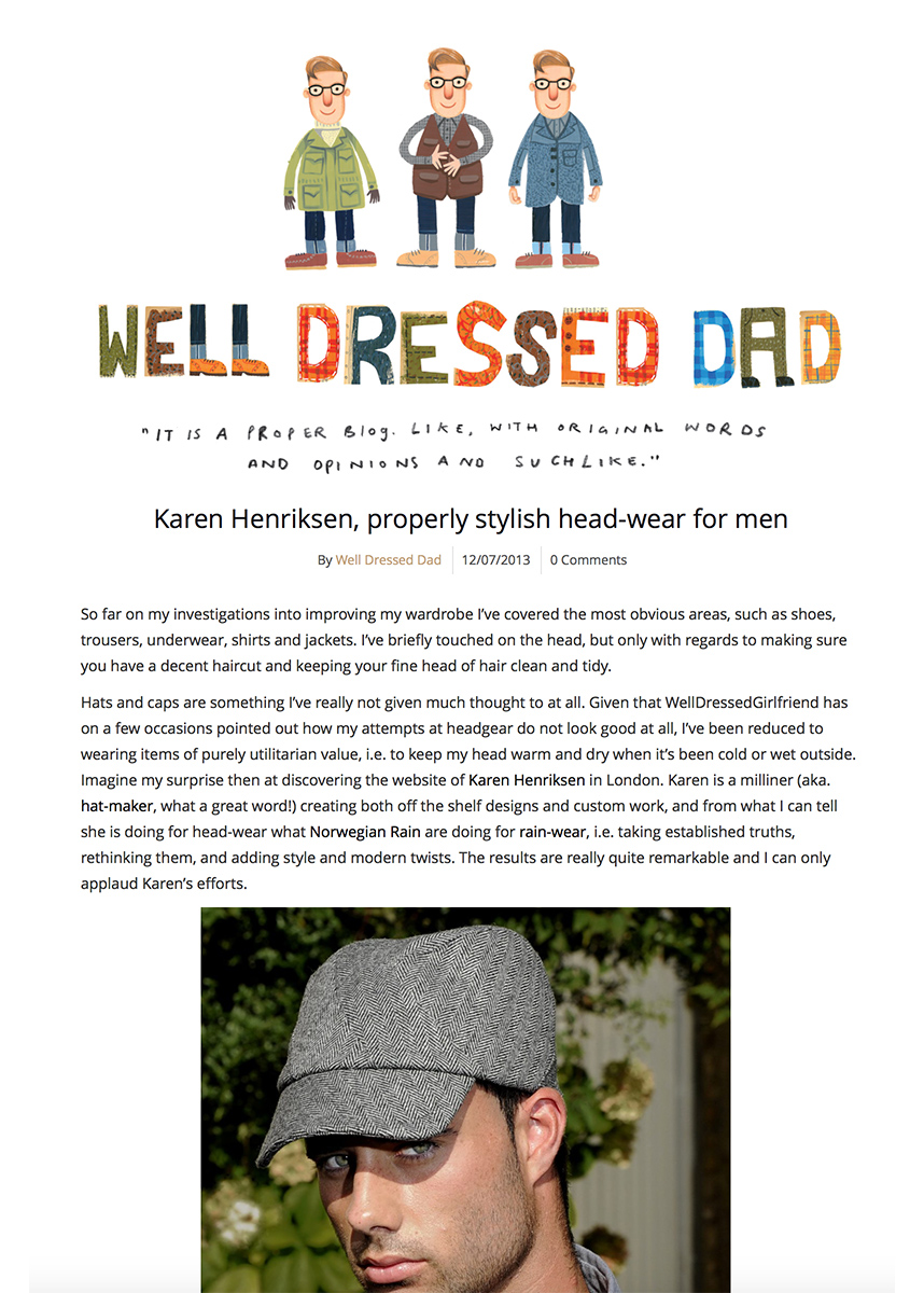 Well Dressed Dad blog