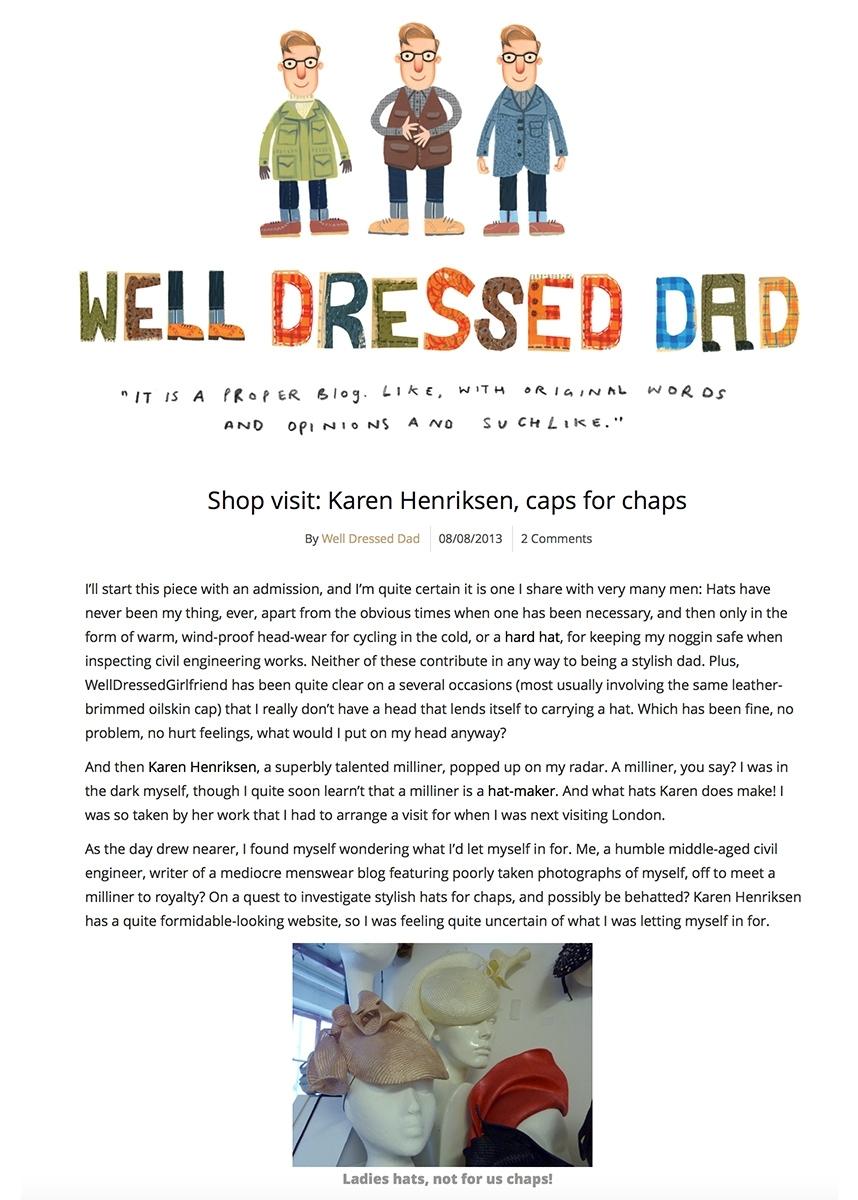 Well Dressed Dad blog - Studio visit