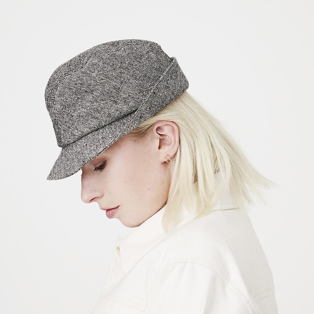 'Denham' trilby hat in silk tweed