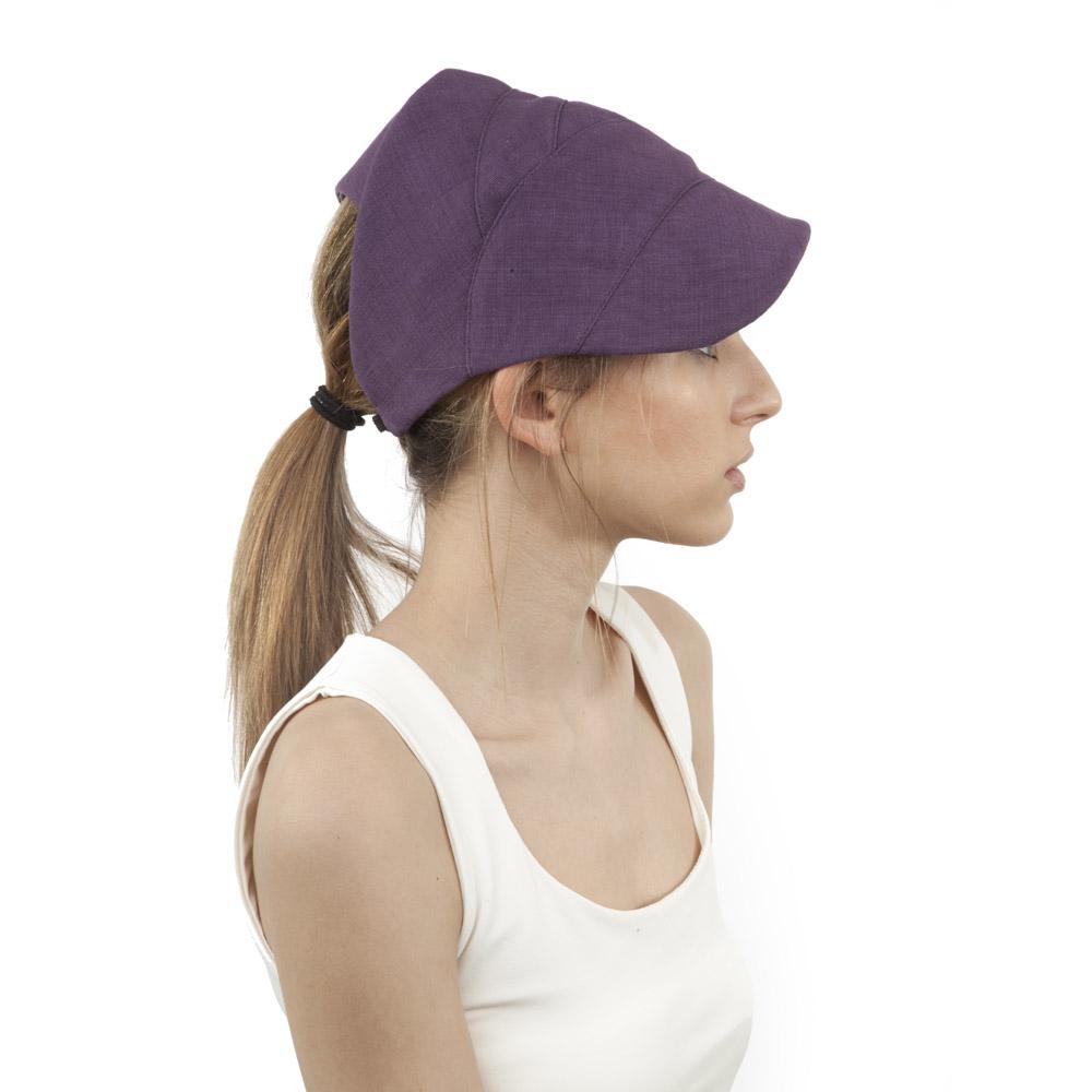 'Koranna' cap in purple cotton