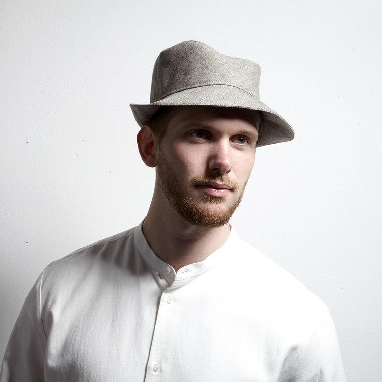 2845867b7ea970 NEW - Linen Fedora Style Hat for Men - 'Cavendish' in light brown ...
