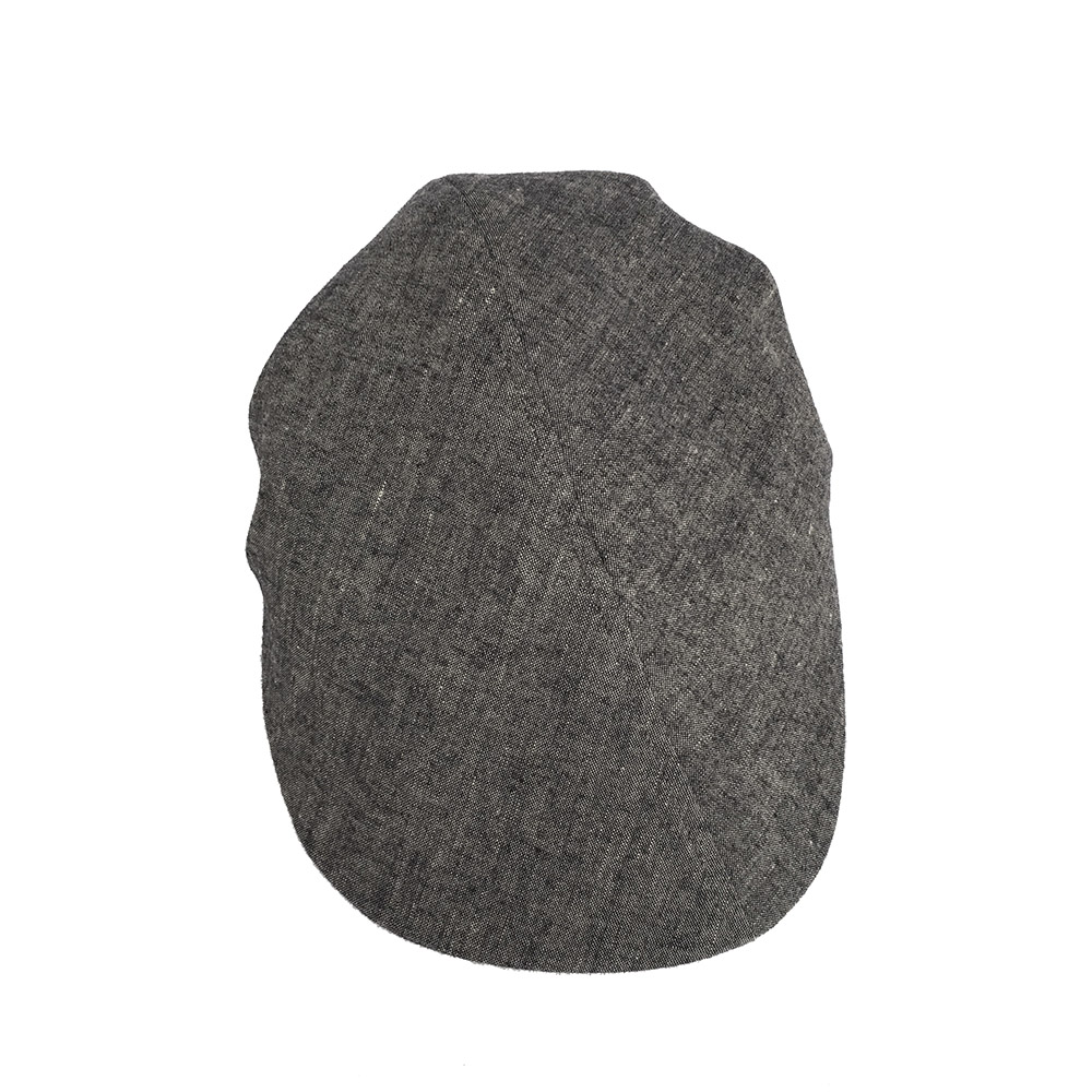 Linen Designer Flat Cap For Men - 'Skipton' In Charcoal