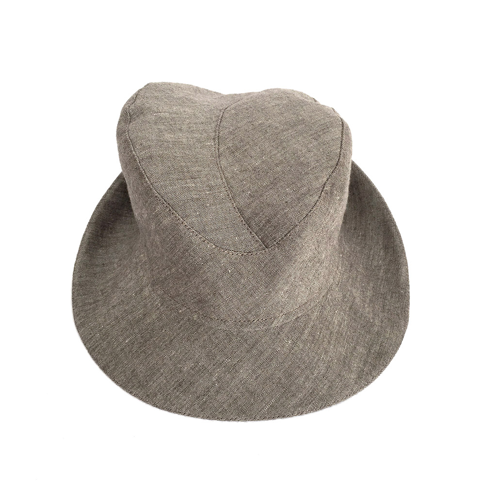 Linen Fedora Style Hat For Men - 'Cavendish' In Light Brown