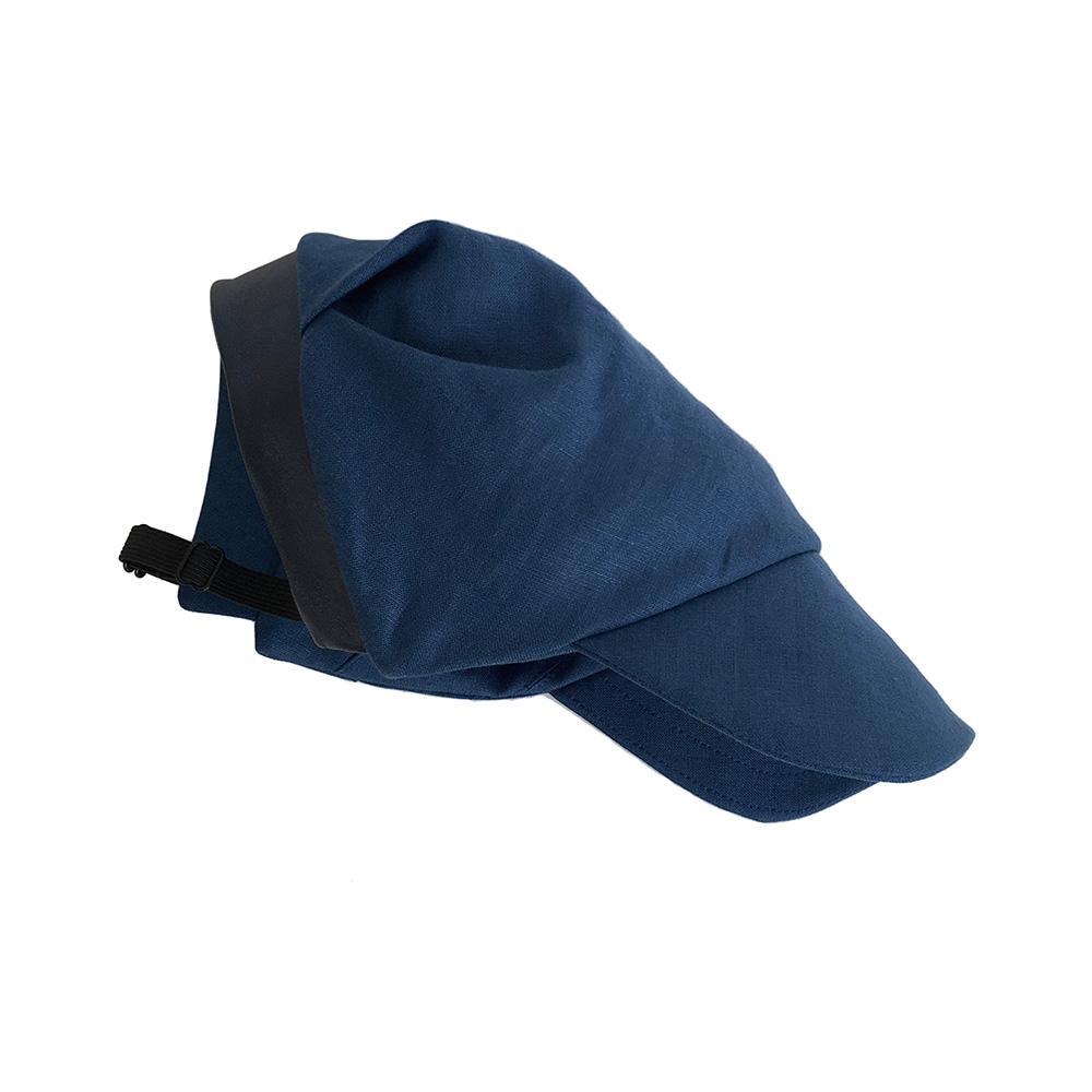 Linen Peaked Cap For Women - Brighton In Royal Blue