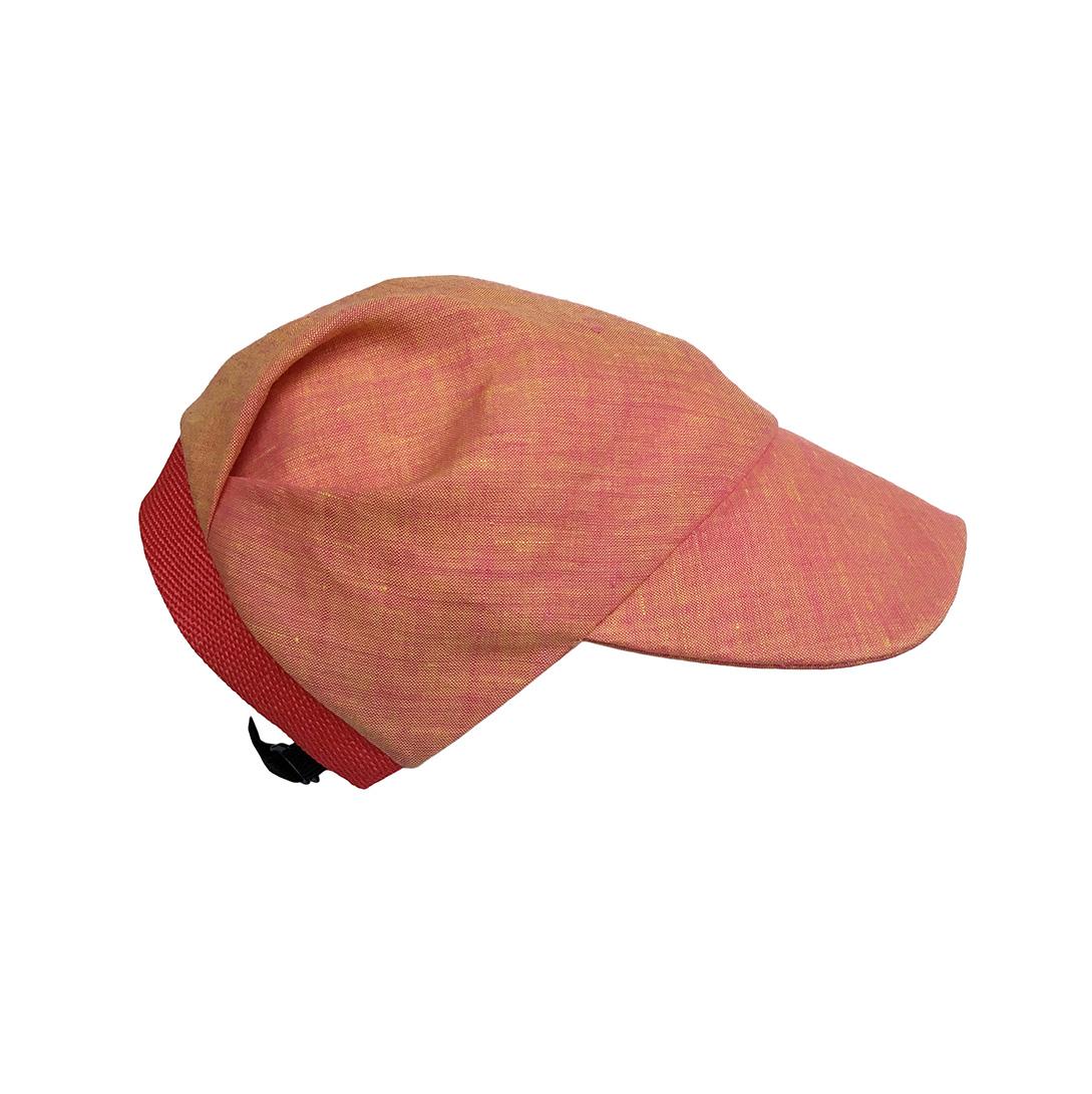 Linen Cap For Women - 'Brighton' In Coral