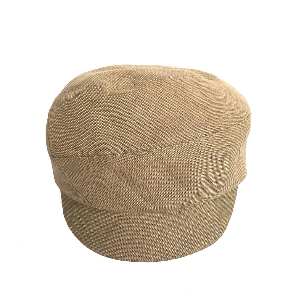 Women's Linen Peaked Cap - 'Blaize' In Natural