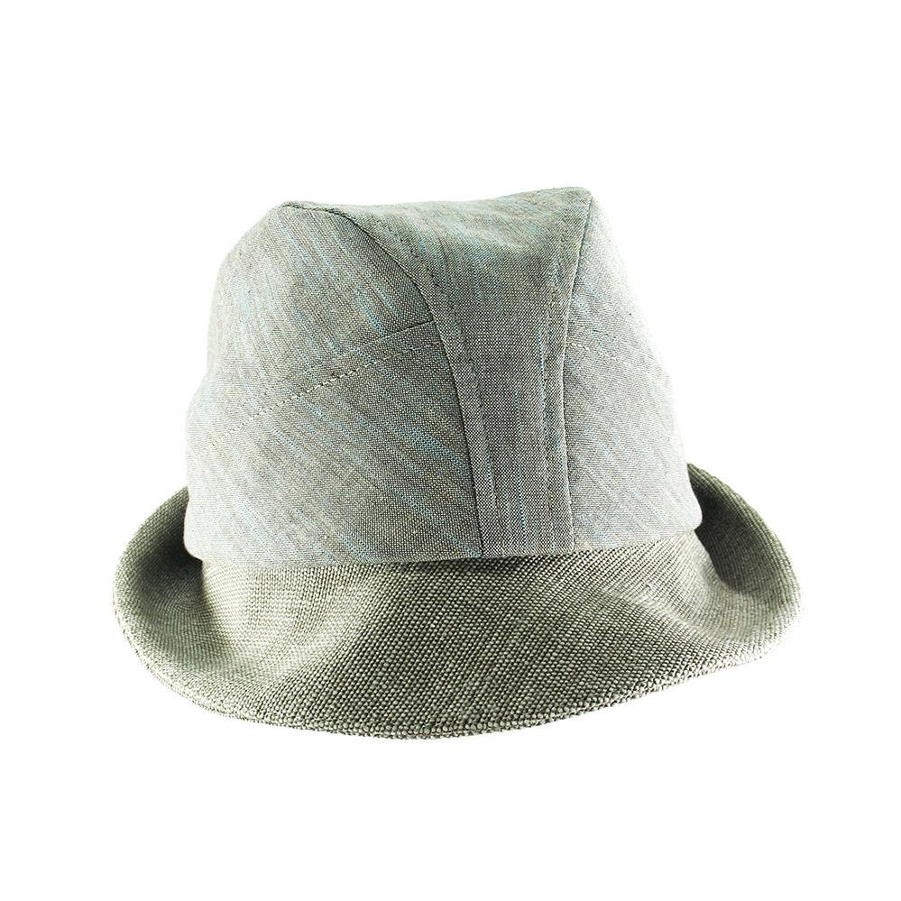 Organic Cotton Summer Trilby Hat For Men - 'Denham' In Sage Green