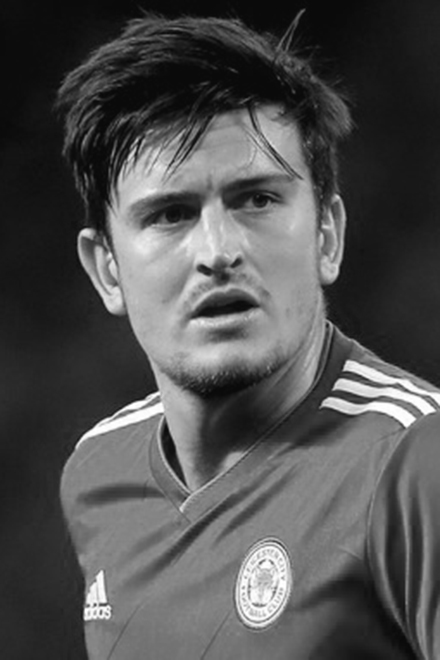 Footballer Harry Maguire's face shape could be described as heart-shape square.