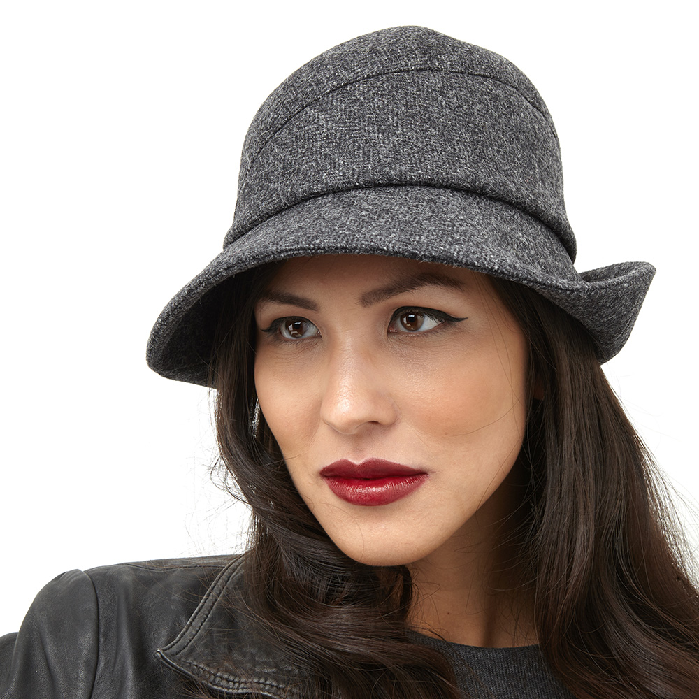 Pickford is a fedora style hat with a rounded crown.