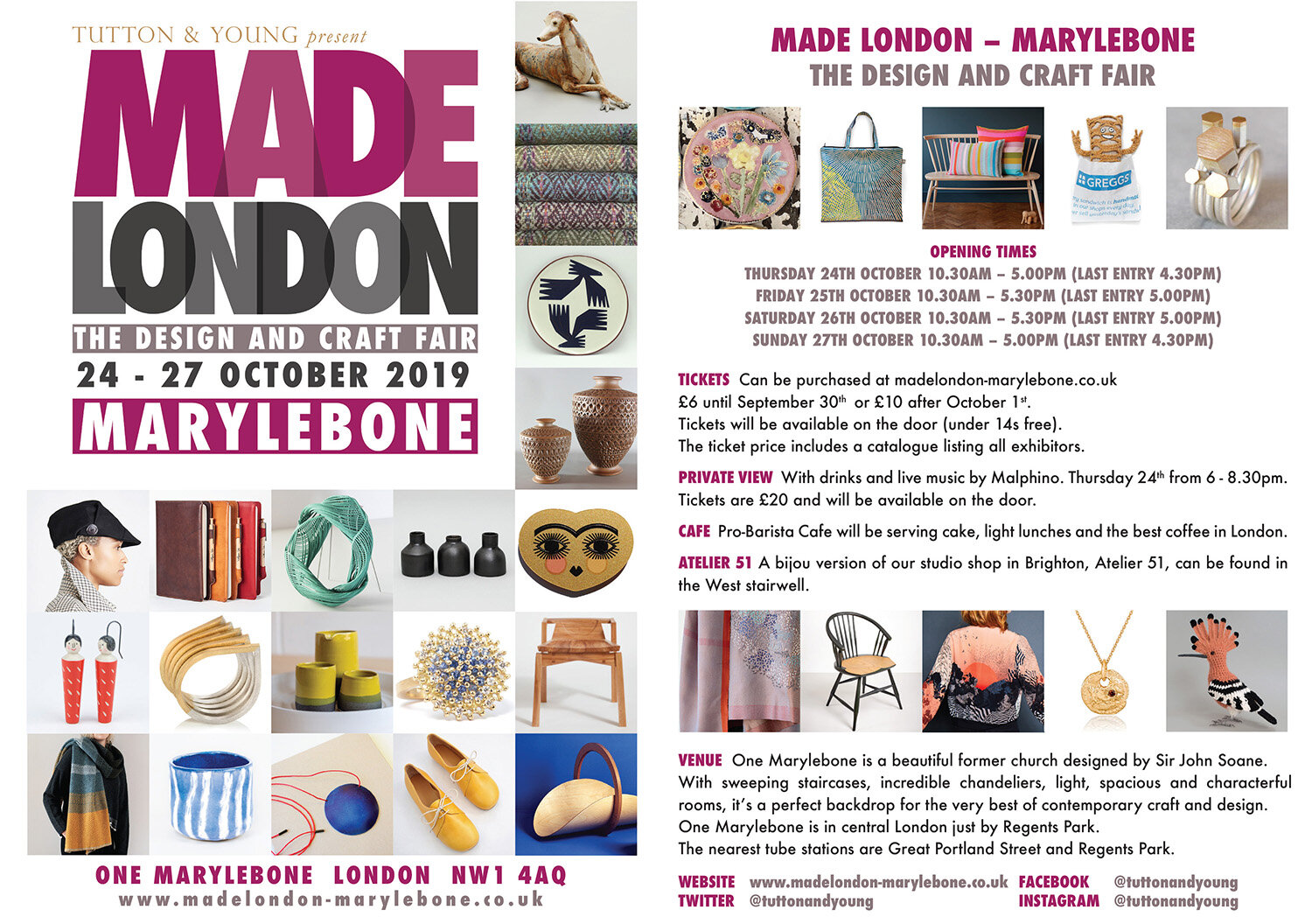 Further information for Made London Marylebone, 24-27 October 2019