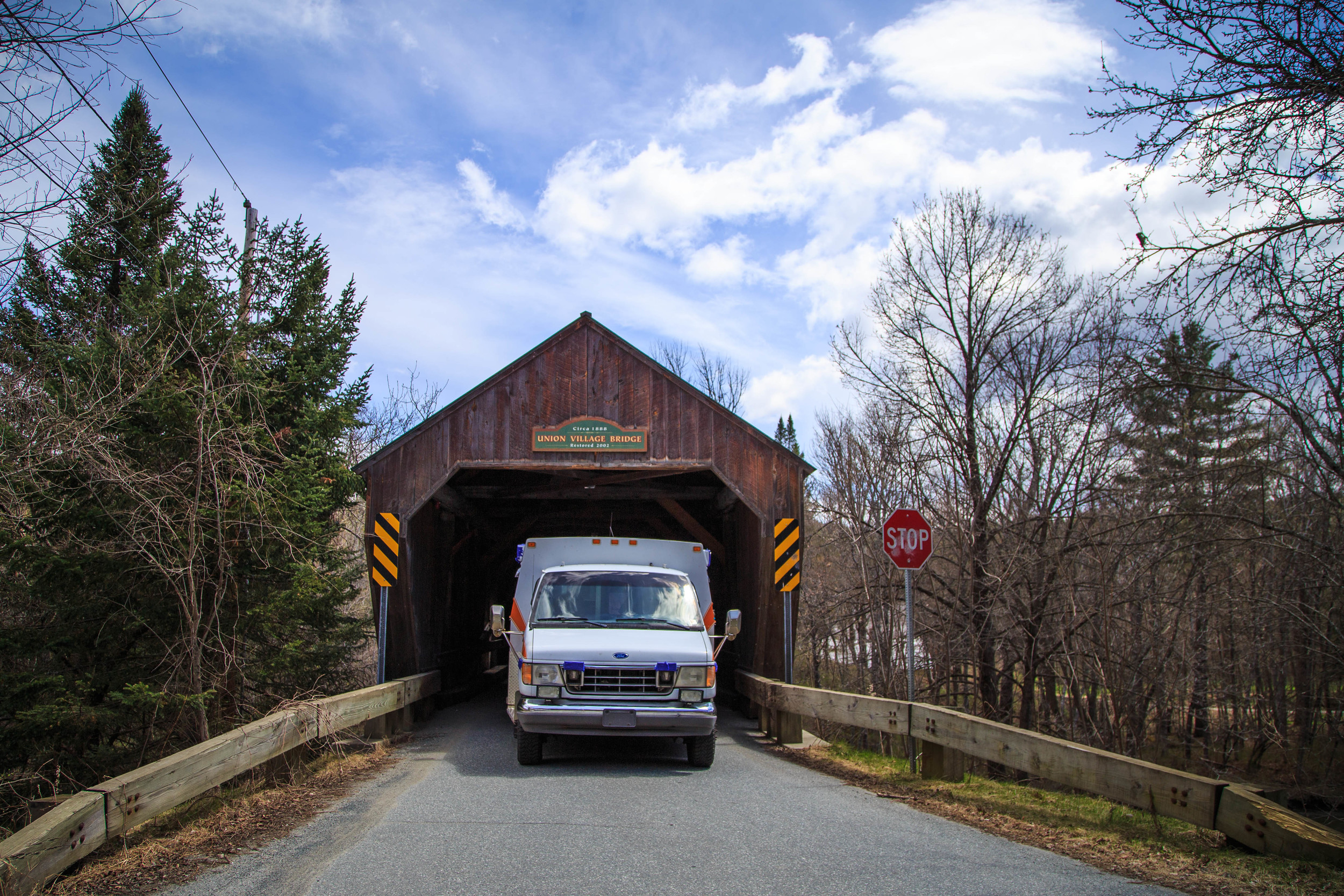 Campbulance's first covered bridge!