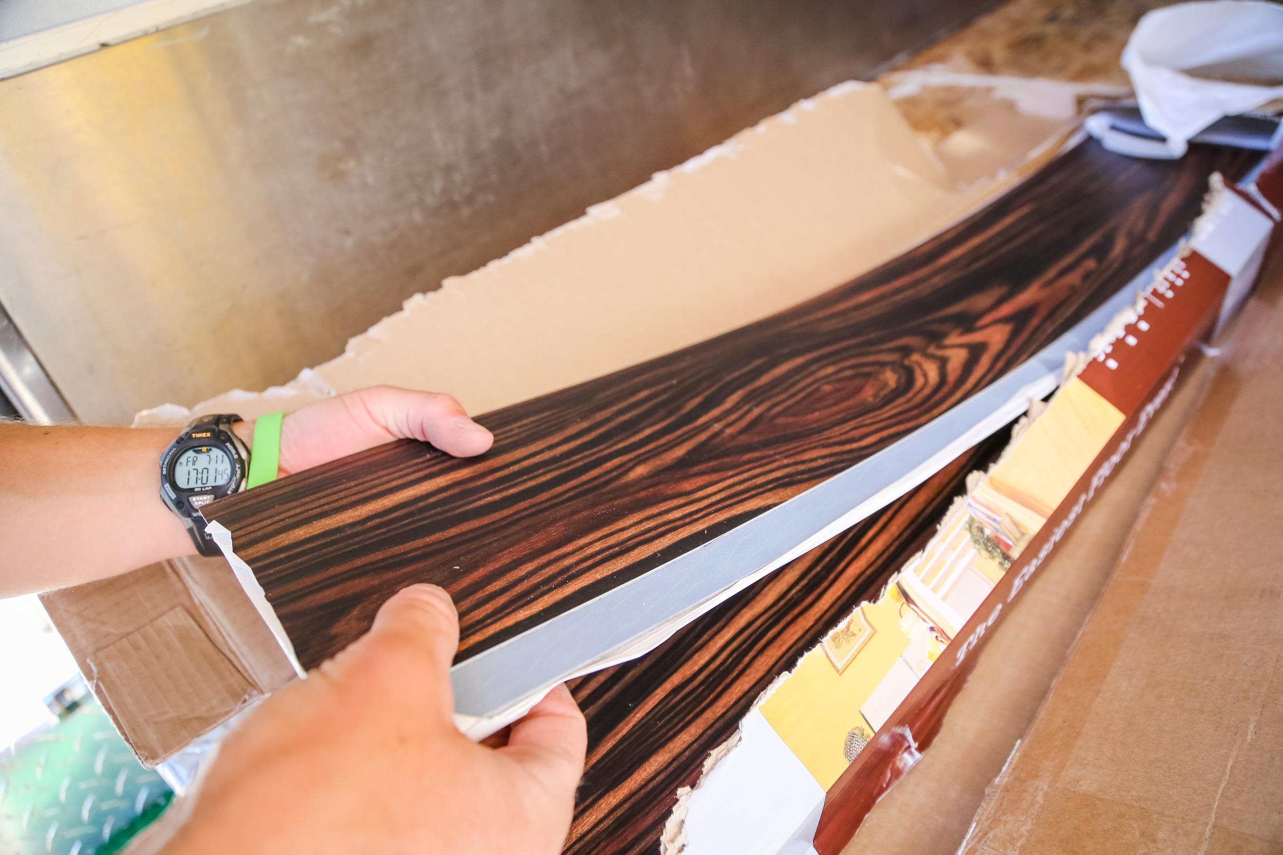 """The beautiful """"Rosewood Ebony"""" flooring."""
