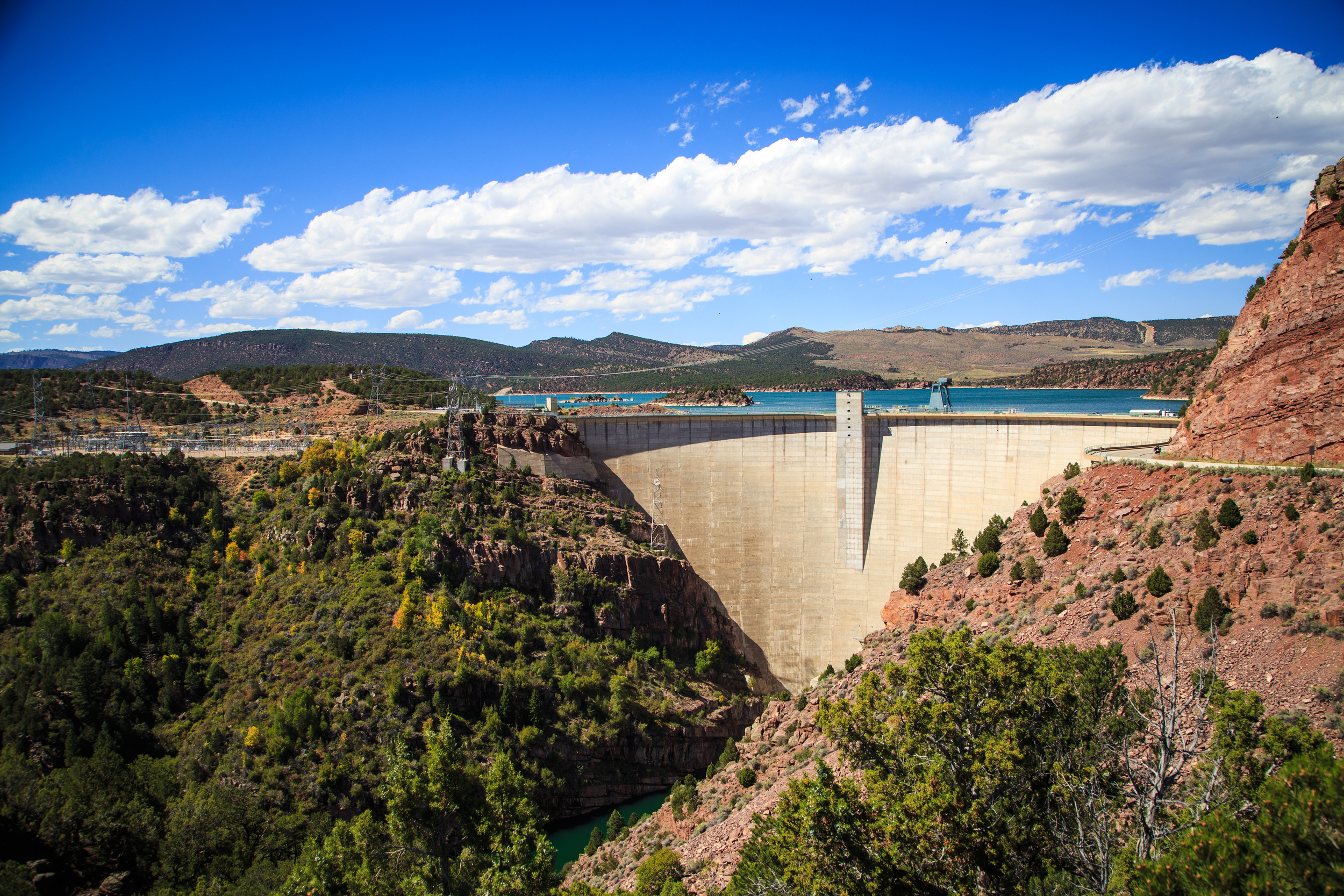 Flaming Gorge Dam.