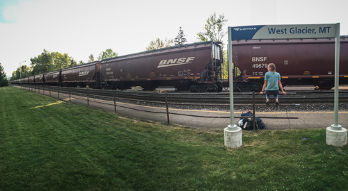 Lots of freight moves along the lines now. We see many trains a day when rafting.