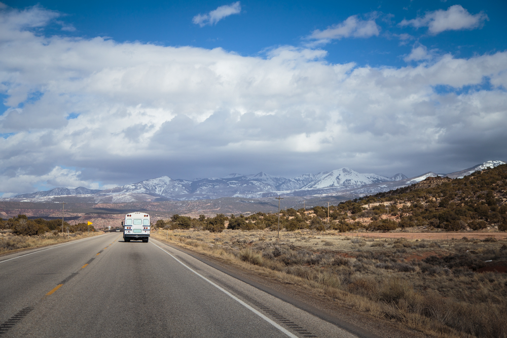 Driving up to Moab.