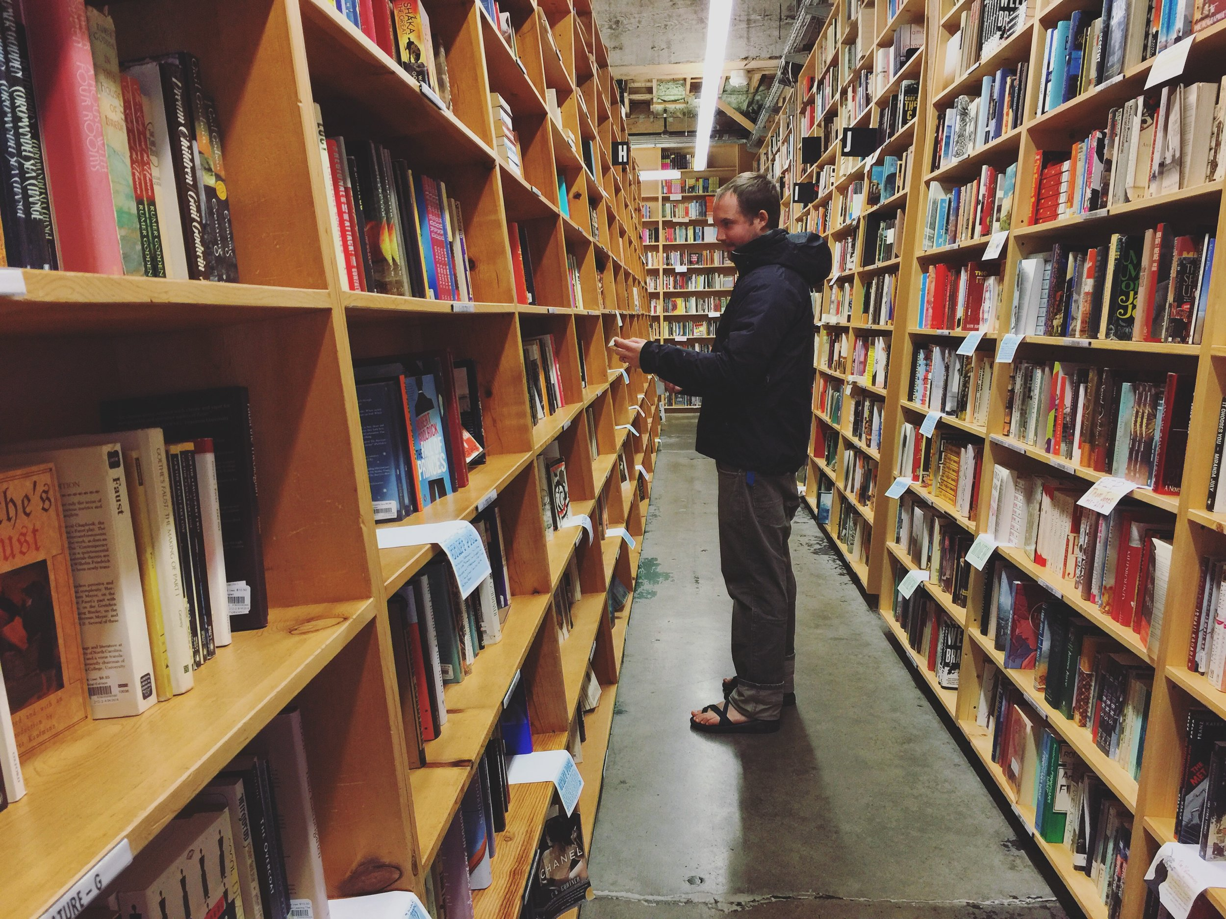 Powell's Book store…always a favorite, but Portland's 90 minute parking limit meant we had to browse quick!!!